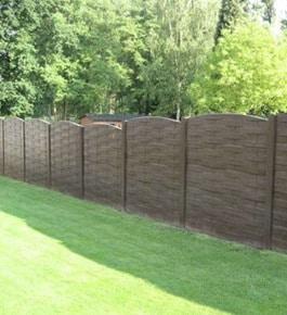 cloture jardin beton imitation bois