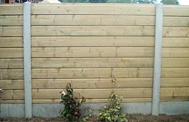 plaques de beton et bois