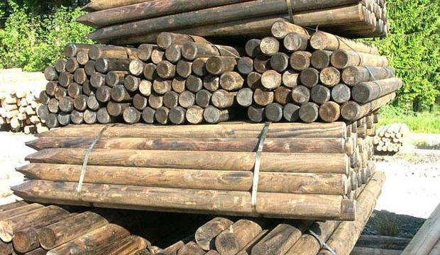 poteaux bois cloture