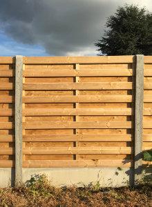 clôture béton et bois