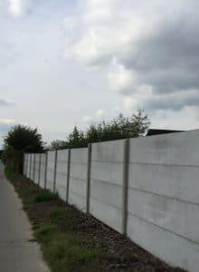 clôture plaques de béton